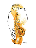 Saxophone Player art