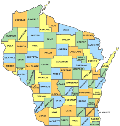 WI County Map