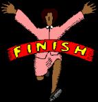 runner winning race