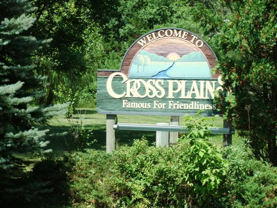 Cross Plains Welcome Sign