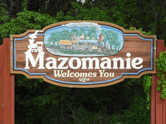 Mazomanie city sign