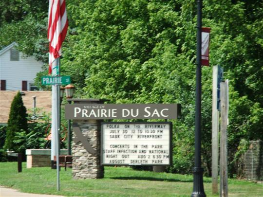 Prairie du Sac city sign