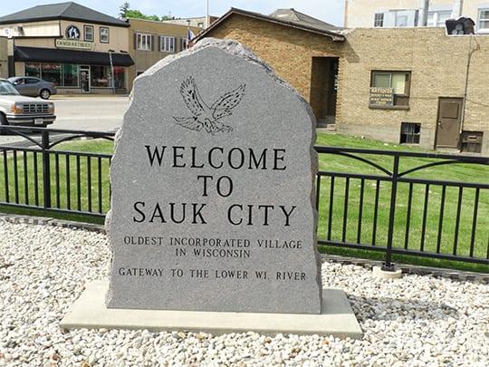 Sauk City City Sign