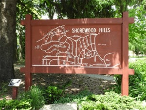 Shorewood Hills city sign