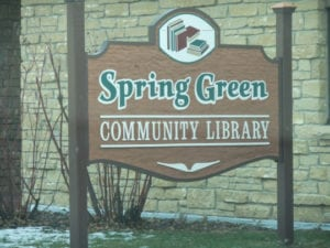Spring Green Library Sign