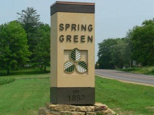 Spring Green city sign