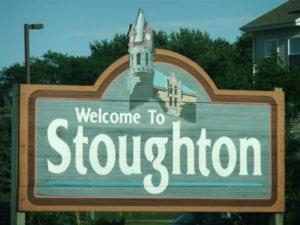 Stoughton city sign
