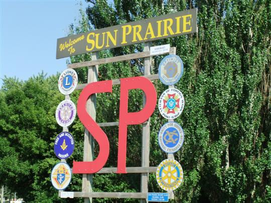 Sun Prairie city sign