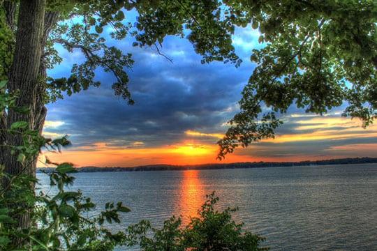 Sunset on Lake 540
