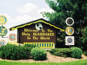 Waunakee city sign