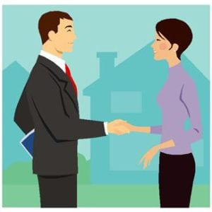 Buyer and Agent shaking hands