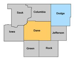 Dodge County WI map