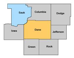Sauk County WI map