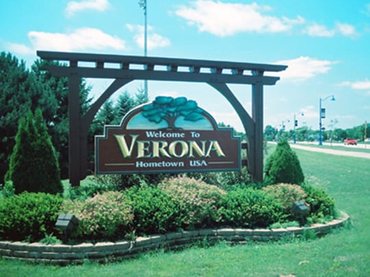 Verona WI City Sign