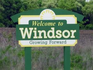 Windsor City sign
