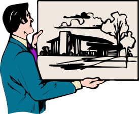 architect holding illustration