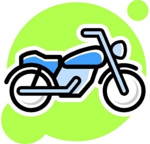cartoon of dirt motorcycle