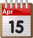 April 15 calendar page