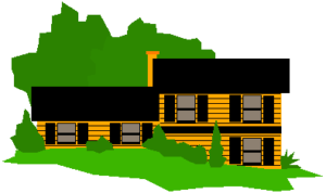 split level home cartoon
