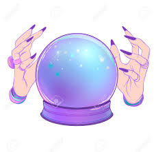 a Crystal ball with hands around it